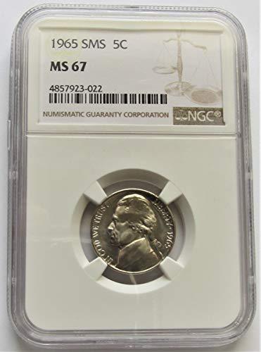 1965 Jefferson SMS Nickel MS67 NGC (Ngc Mint Jefferson Nickel)