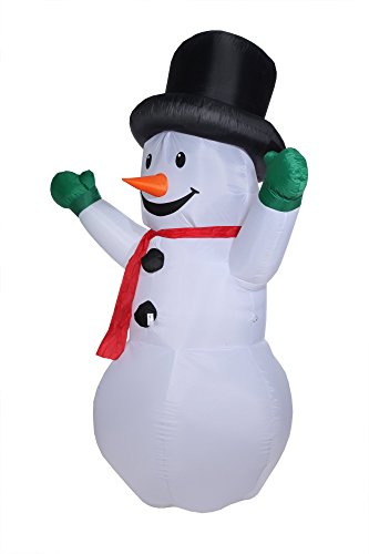 - Homegear 8 ft Christmas Inflatable Snowman (Certified Refurbished)