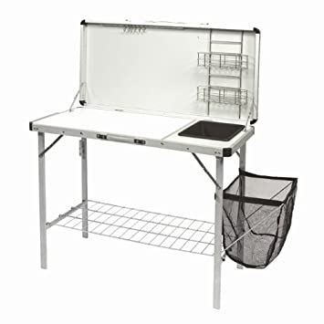 Deluxe camping kitchen stand with sink basin amazon sports deluxe camping kitchen stand with sink basin workwithnaturefo