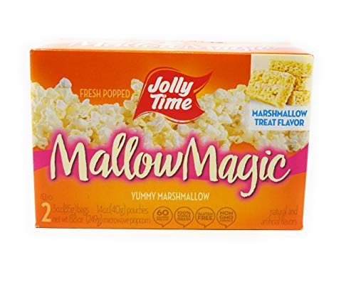 Jolly Time Mallow Magic Marshmallow Flavor Microwave Popcorn, 2-Count Boxes (Pack of 2)