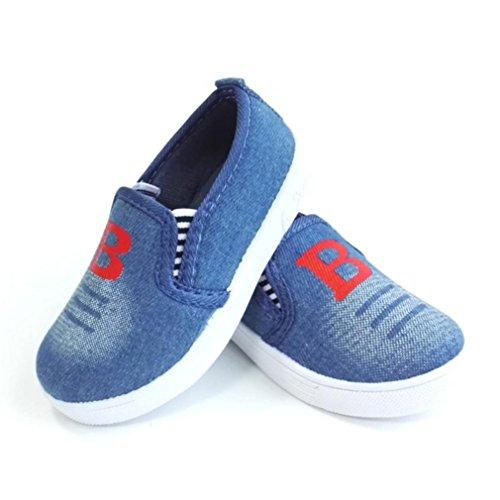 Hunpta Jungen Mädchen Art und Weisebeiläufige Kind Simulations Sohle Kinder Turnschuh flache Schuhe Light blue 1