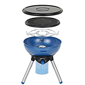 Campingaz Party Grill 200 Camping Stove, All in One portable Camping BBQ, Outdoor Grill & Stove, Small Gas Barbecue 2.000 Watt, Runs on CV 470 Plus Gas Cartridge