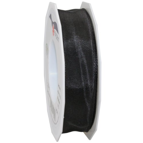 Wire Ribbon Spool (Morex Ribbon French Wired Lyon Ribbon, 1-Inch by 27-Yard Spool, Black)