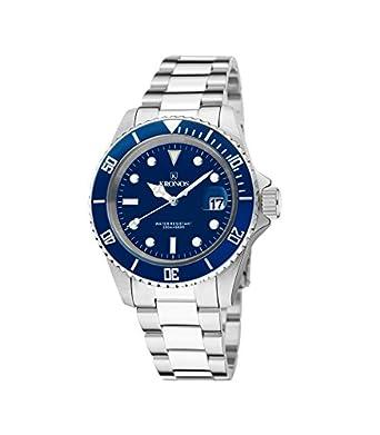 Kronos - Sport Q 200MTS Black 977.8.65 - Reloj Diver de caballero de cuarzo - brazalete de acero - color esfera: azul