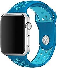 Correa sport para apple watch 42 mm (Turquesa con azul)