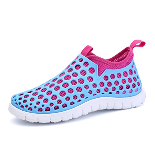 Oriskey Women's Quick Drying Aqua Water Shoes Mesh Slip On Sneakers Blue Pink n92vf