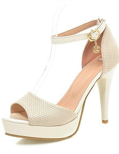 LFNLYX Zapatos de mujer-Tacón Stiletto-Tacones / Punta Abierta-Sandalias-Boda / Oficina y Trabajo / Vestido / Casual / Fiesta y Noche-Semicuero- Black