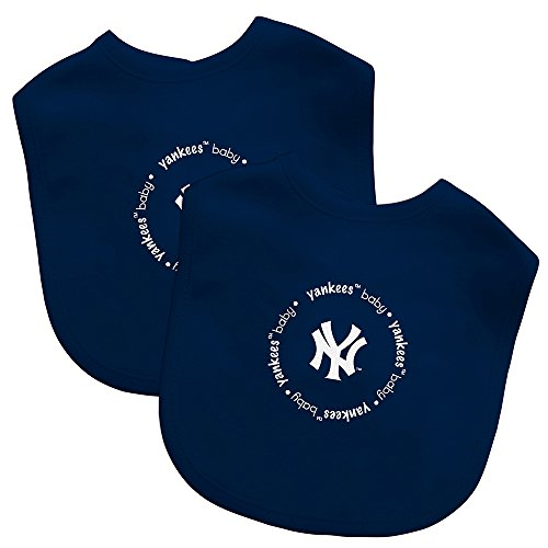 Baby Fanatic Team Color Bibs, NY Yankees, 2-Count (New York Yankees Baby Blanket)