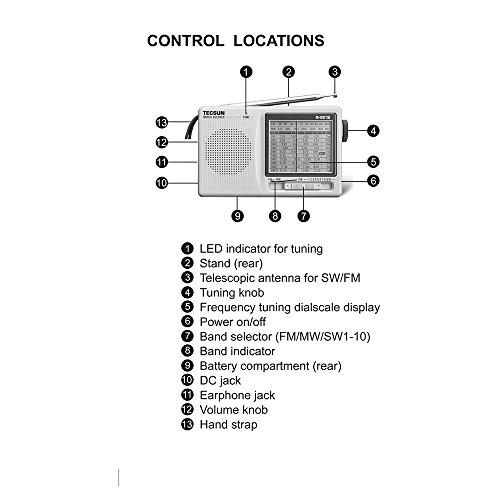 R-9012 Tecsun R-9012 Am//FM//SW 12 Bands Shortwave Radio Receiver