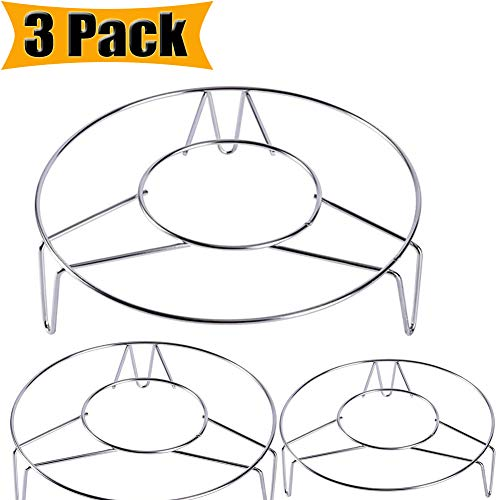 Steaming Rack Steaming Rack Stand Steamer Basket Cooking Stand Ware Heavy Duty Multi-function Round Stainless Steel Steamer Rack Stand Instant Pot Trivet for Instant Pot Pressure Cooker (3 Pack)