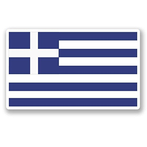 - Greece Greek Flag Vinyl Sticker Decal Laptop Car Bumper Sticker Travel Luggage Car iPad Sign Fun 5