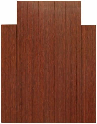 36 x 48 Cherry Roll-Up Bamboo Hardwood Office Chair Mat