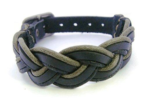 APECTO Jewelry Quality Black Leather Braided Wristband Cuff Bracelet, Bangle Leather Bracelet Buckle, (Hindu Halloween Costumes)