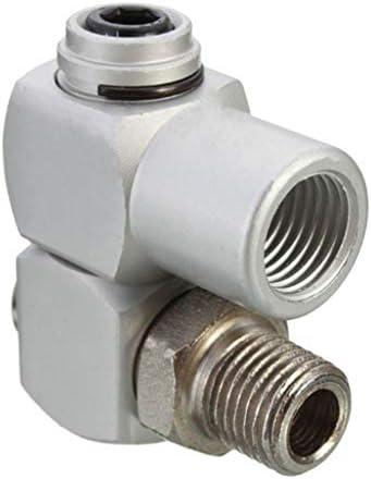 B Baosity 1/4インチユニバーサル空気圧コネクターエアパイプアダプター360度回転ツール