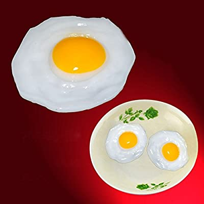 Shineweb Fried Egg Food Simulation Children Play Toy Anti Stress Anxiety Relief Car Decor Vent Toy Adult Kids Decompression Toy Gift: Home & Kitchen