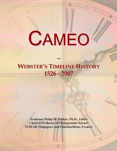 Cameo: Webster's Timeline History, 1526 - 2007 (Line Cameo)
