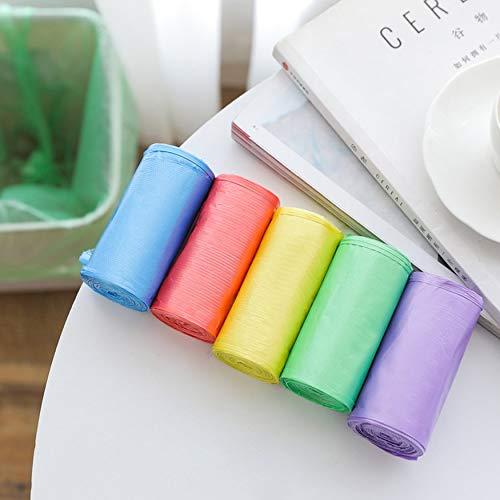 Yaoaomon Sacchi di Spazzatura Multicolore Sacchetti di immondizia Sacchi per Ufficio da Camera da Letto Bagno per Cestino Blu