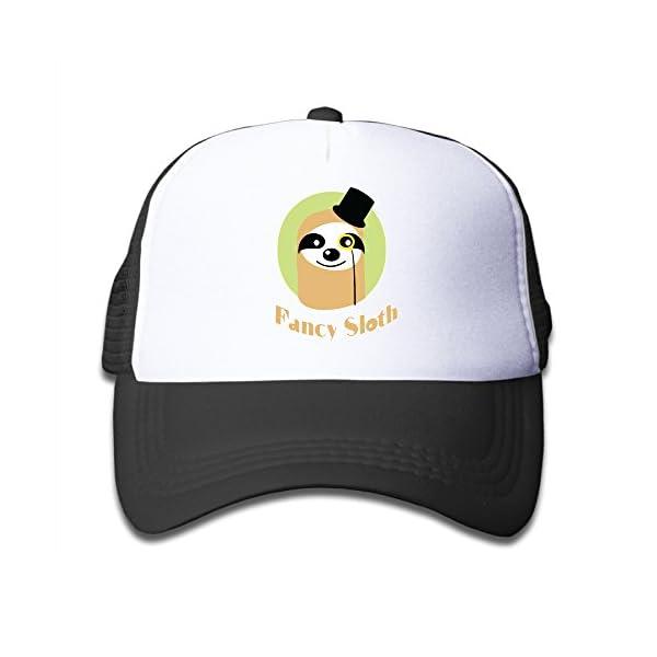 Fancy Sloth Kids Mesh Hats Cool -