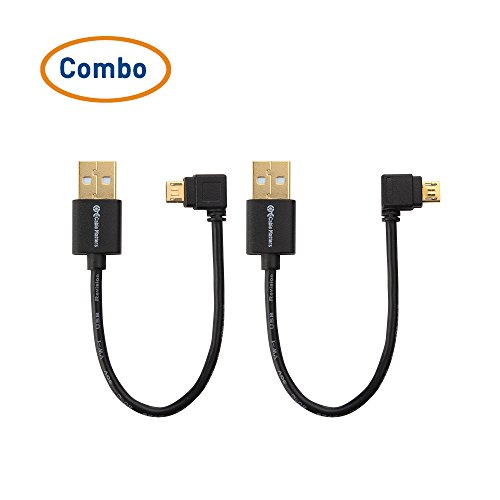 Cable Matters (Combo-Pack) Right Angle and Left-Angle USB Power Cable for Chromecast Roku Streaming Stick and Fire TV Stick - 6 Inches