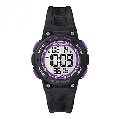 Timex T5k847 Unisex Marathon Black Silicon Band Gray Dial Watch