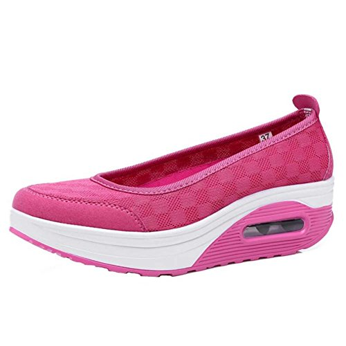 ANDAY Women Ladies Breathable Casual Platform Trainers Sports Shoes Rose zTvZ4n