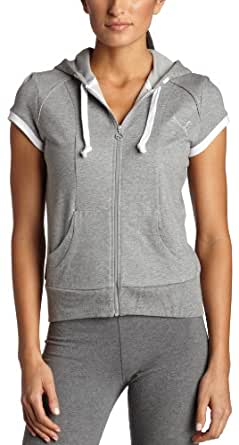 PUMA Women's Hooded Sweat Jacket,Athletic Gray Heather,X-Small