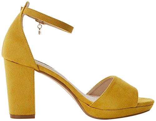 30686 Scarpe Donna Cinturino Panama XTI con Giallo alla Caviglia dO456