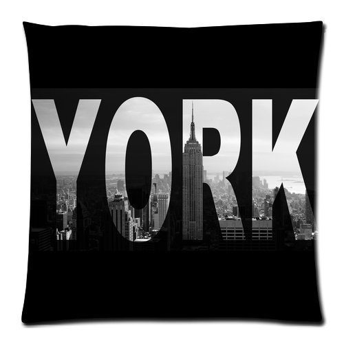 ZhouBrand I Love NY New York City View Pillow Cushion Case Throw Pillow Covers Pillow Inner Included Soft Bedding 18x18 (One side) New Fashion (Ny Throw Pillow)