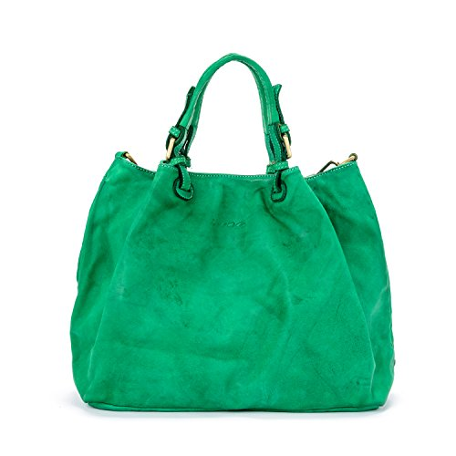 Model Made Vert del Sac femme cuir Vrai à in main Italy Vintage Valle Caraibica Ira Moutarde wBdUxqzPP