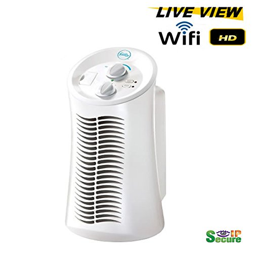 Price comparison product image Wifi Remote Viewing Day-Video Mini Tower Air Purifier Hidden Spy Camera 1080P High Definition Secureshot DVR Up to 128GB SD