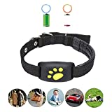 HUAXING GPS Tracker,Collar Waterproof USB Cable Rechargeable,12 Days Long Standby Timedog Tracking Device, for Dogs/Cats/Pets.