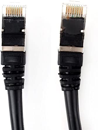 Cable Length: 1m Computer Cables 1M 3Ft RJ45 CAT 7 SSTP LAN Ethernet Network Cable Patch Shielded 10Gbps #55189