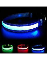 MASBRILL Collier de sécurité Chien Rechargeable LED Super Bright DC - Excellente visibilité sécurité - Étanche