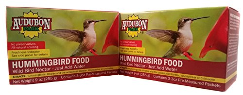 (Audubon Hummingbird Concentrate Food 3 3Oz Pre Measured Packets, 2 Boxes Of Hummingbird Nectar)