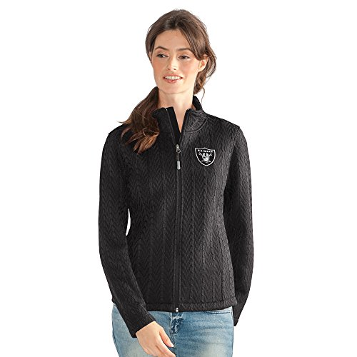 GIII For Her NFL Oakland Raiders Women's Crossover Full Zip Jacket, Large, (Oakland Raiders Womens Jackets)