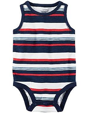 Baby Boys Striped Tank Bodysuit