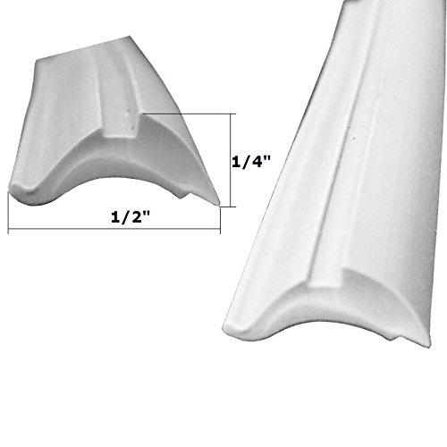 (Grey Shower Door Replacement Spline - 18 ft Roll)