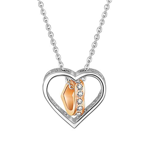 Flowetry White Gold & Gold-Plated Crystal Pave Heart-Shaped Pendant Necklace ()