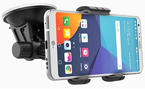 Price comparison product image LG G6 Car Mount Holder (easy dock) Windshield / Dashboard Compatible (By Encased) (LG G6 Car Mount)