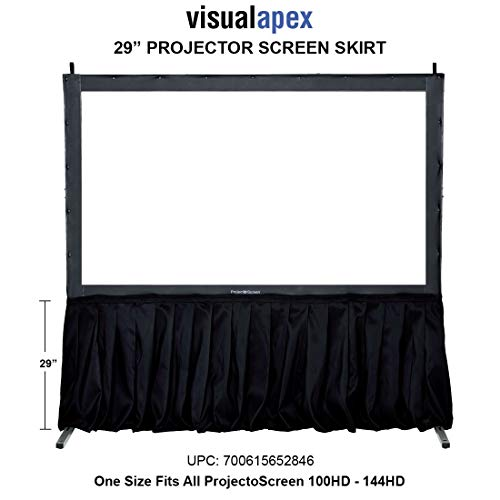 (Visual Apex Projector Screen Black Skirt Drape Kit - 29