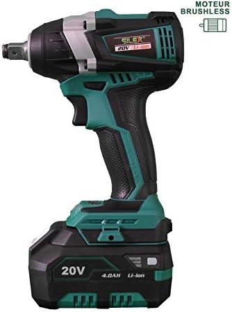 Cool clé à Chocs 20V Sans Fil Silex® 20V (1 x batterie 5 Ah Samsung Lithium) + Visseuse à choc + perforateur + perceuse  xO9WR