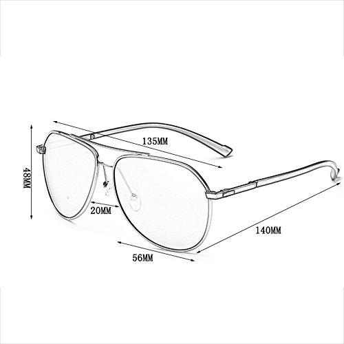 para de Gafas Gafas polarizadas Retro Brillantes Face B Sol Hombres Sol de Lentes Round Hombre Gafas para Color de D Sol con z8Tfqzw