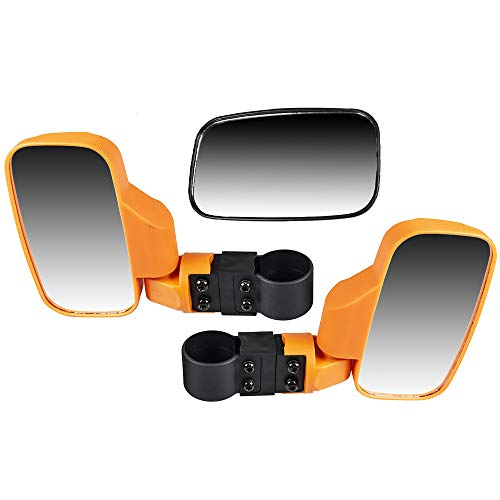 (NICHE Orange Breakaway Offroad Rear & Side View Mirrors Combo Side x Side UTV Utility Vehicle w/ 1.75
