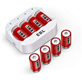 EBL RCR123A Rechargeable Batteries (8 Counts) 750mAh and Battery Charger - Ultra Fit for Arlo VMC3030 VMK3200 VMS3330 3430 3530 Wireless Security Cameras