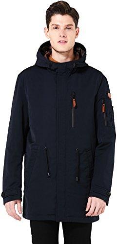 ICEbear Men's Waterproof Casual Anorak Coat Windproof Rain Parka Jacket Outdoor Windbreaker With Hooded Navy L