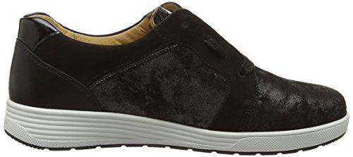 Ganter Sensitiv Klara, Weite K, Zapatos de Cordones Derby para Mujer Negro - Schwarz (schwarz 0100)