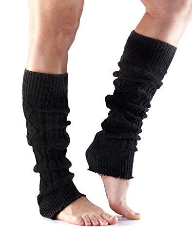 Toesox, Leg Warmer Kneehigh, One Size, Black (Black Knit Leg Warmers)