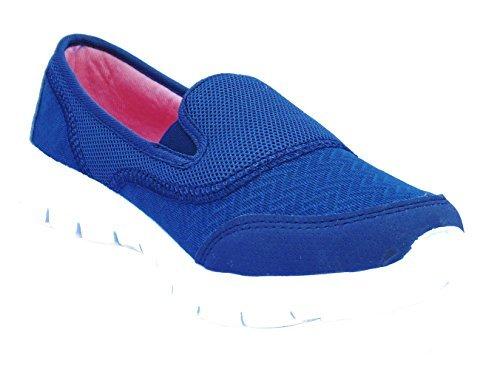 Mujer Urban JACKS Azul Marino Zapatillas Sin Cordones Cómodo Mocasines - Azul Marino, 38 EU: Amazon.es: Zapatos y complementos