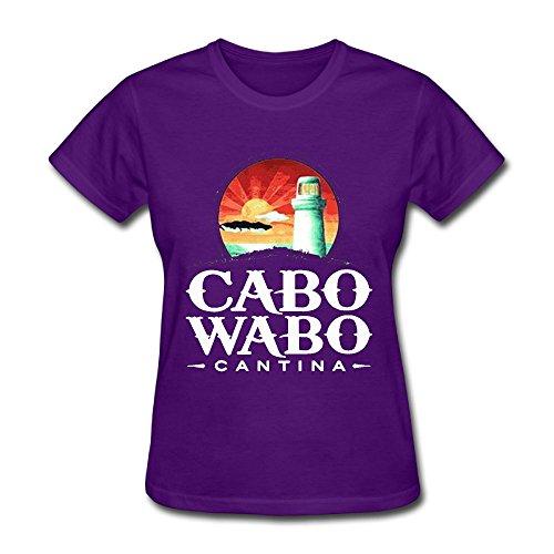(Oyavdsznq Women's Cabo Wabo Funny Party Purple T-Shirt M Short Sleeve)