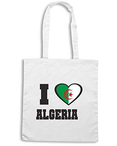 T-Shirtshock - Bolsa para la compra WC0001 ALGERIE ALGERIA Blanco